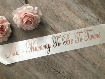 Personalised Twins Baby Shower Sash